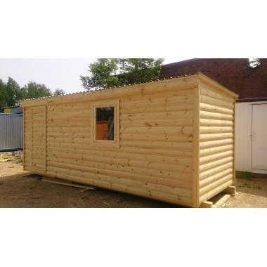 Бытовка деревянная Блок хаус
