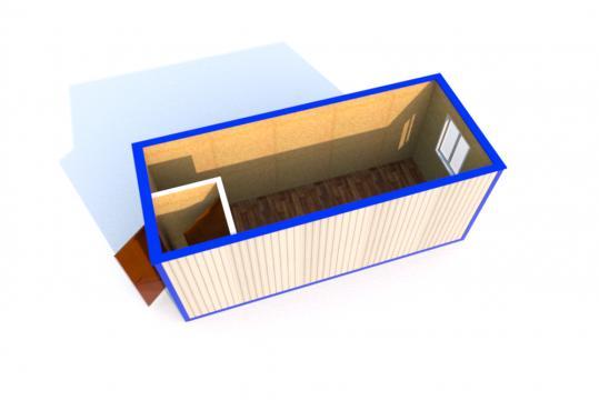 Блок-контейнер БК-01 Эконом ДВП  5,85х2,43