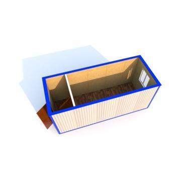 Блок-контейнер БК-02 Эконом ДВП  5,85х2,43