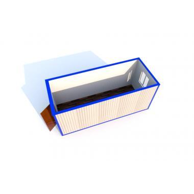 Блок-контейнер БК-00С ПВХ панели  5,85х2,43