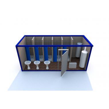 Блок контейнер с душевыми кабинами