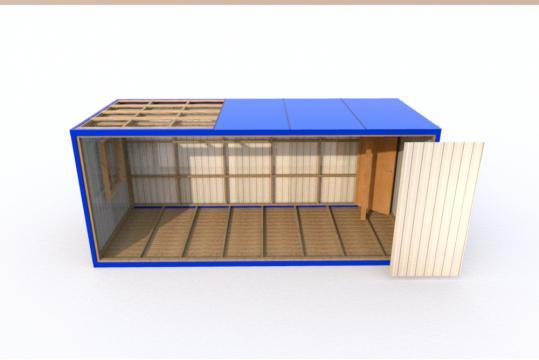 Блок-контейнер без отделки