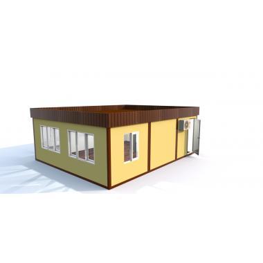 Модульное здание из сэндвич блок-контейнеров