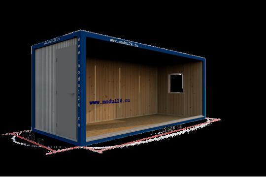 Блок-контейнер в вагонке