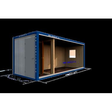 Блок-контейнер БК-01 с тамбуром в вагонке