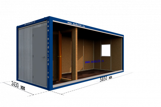 Блок-контейнер с тамбуром ДВП