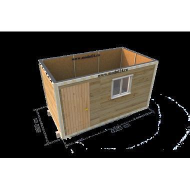 Бытовка деревянная БД-00 4 метра