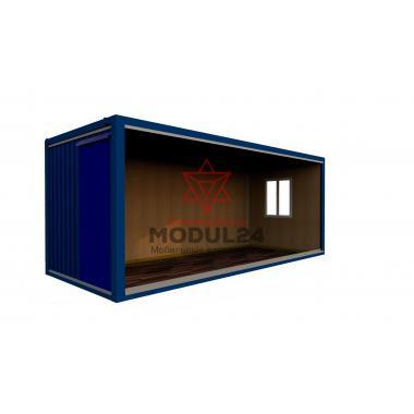 Блок-контейнер БК-00 вагонка синий профлист
